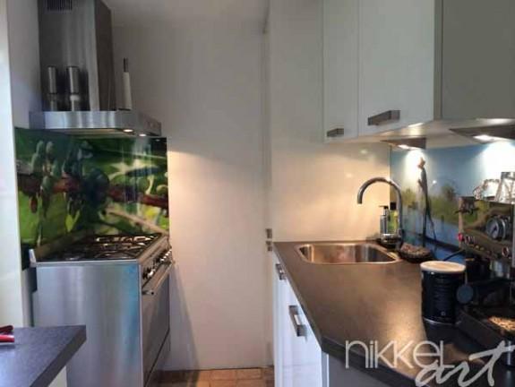 credence de cuisine en verre imprime. Black Bedroom Furniture Sets. Home Design Ideas