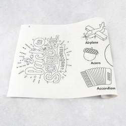 Rouleau de dessin alphabet A - H