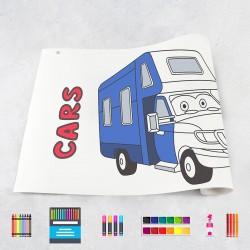 Rouleau de dessin voitures