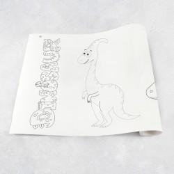 Rouleau de dessin dinosaures