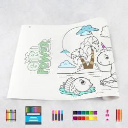 Rouleau de dessin filles