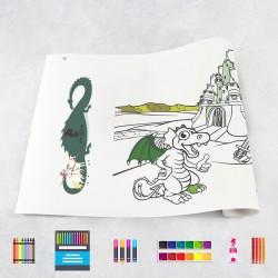 Rouleau de dessin chevaliers