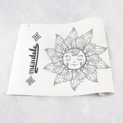 Rouleau de dessin mandala