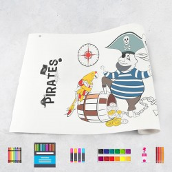Rouleau de dessin pirates