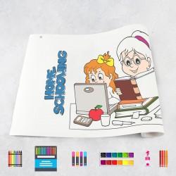 Rouleau de dessin école