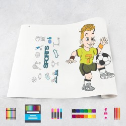 Rouleau de dessin sport