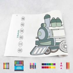 Rouleau de dessin trains