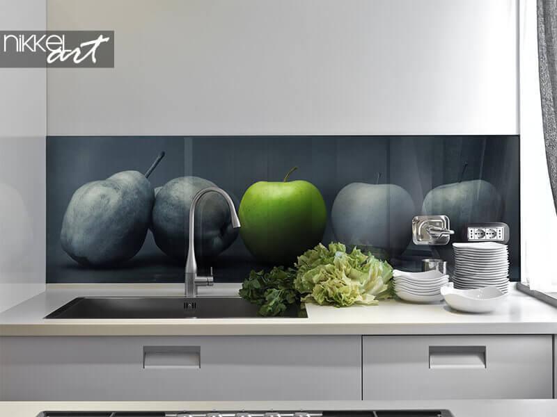 Fond de photo acrylique pomme verte