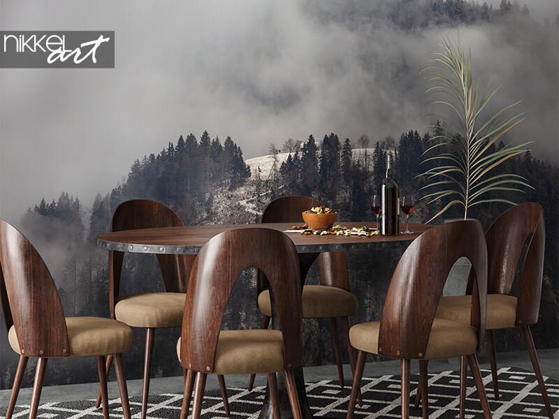 Papier peint Montagnes dans la brume