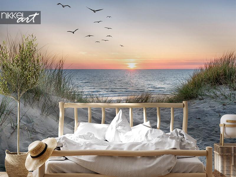 Papiers Peints photo plage au coucher du soleil