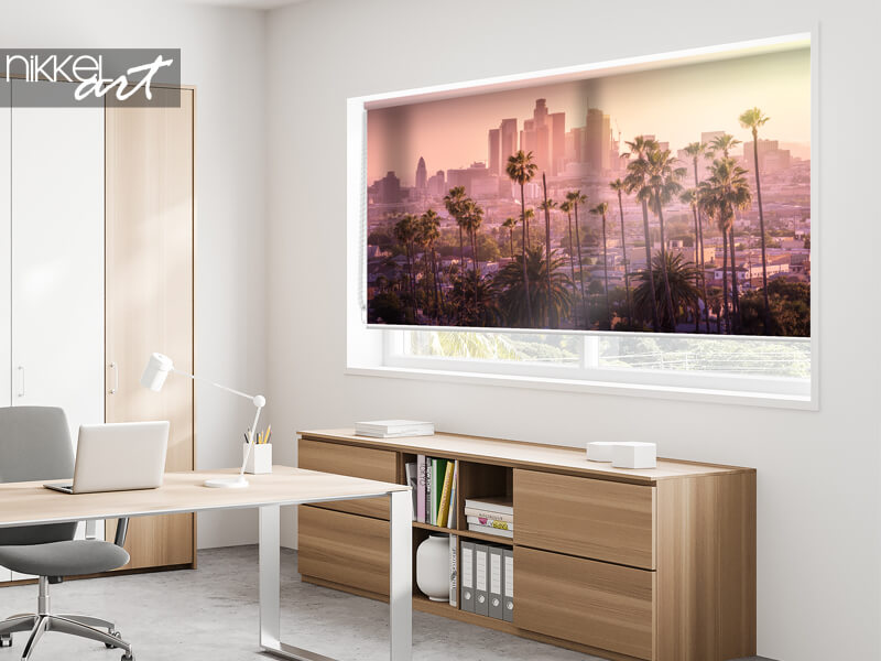 Store Enrouleur Imprimé Coucher de soleil à Los Angeles