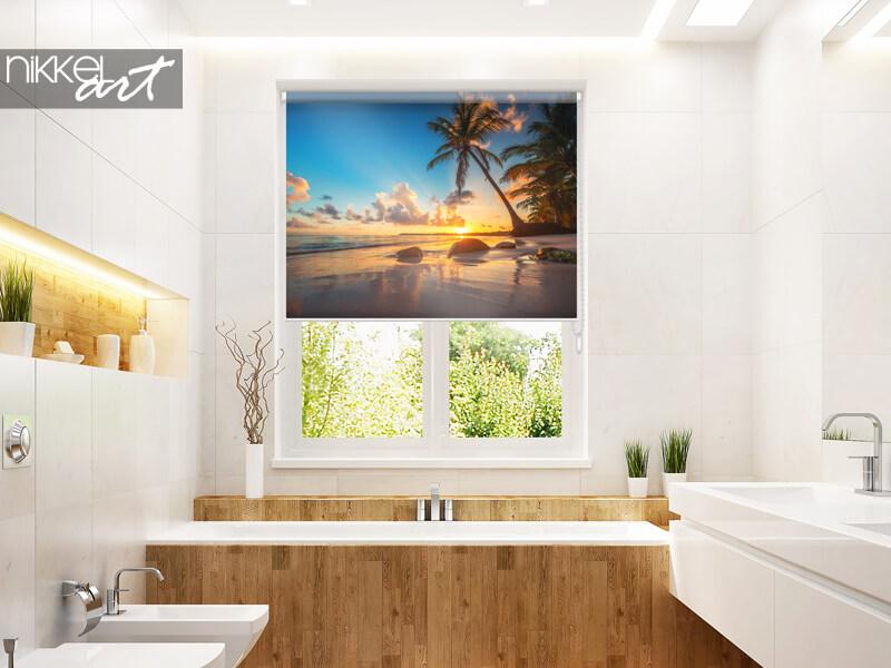 Store Enrouleur Imprimé Palmboom en tropisch Strand en République dominicaine