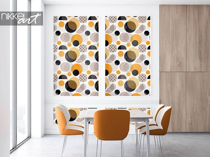 Papier peint à pois adapté à votre intérieur