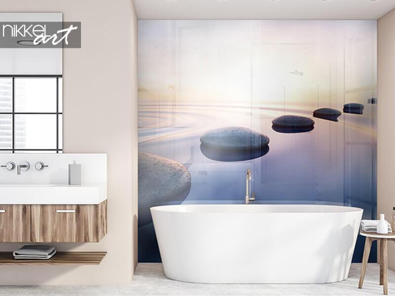 Un fond de hotte photo pour une ambiance supplémentaire dans la salle de bain