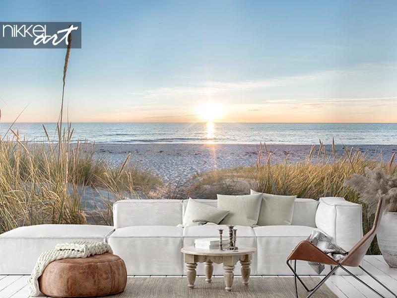 Le sentiment de vacances ultime: papier peint photo de plage