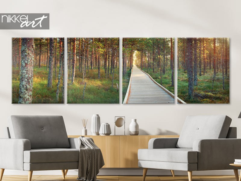 Un accroche-regard en taille: photo panoramique sur toile