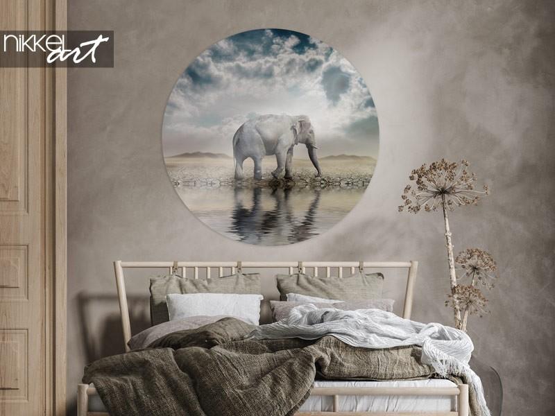 8 x éléphants comme décoration murale