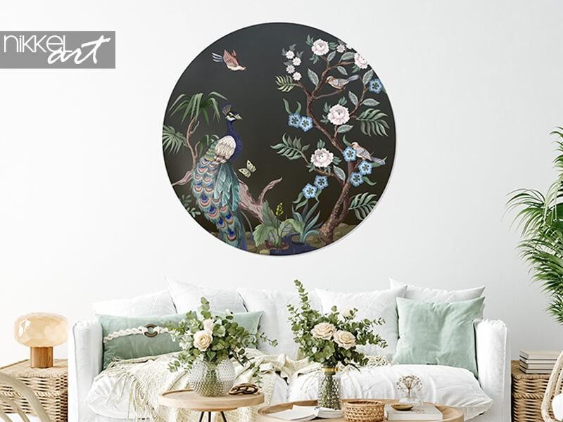 Créatif avec décoration murale : papier peint cercle