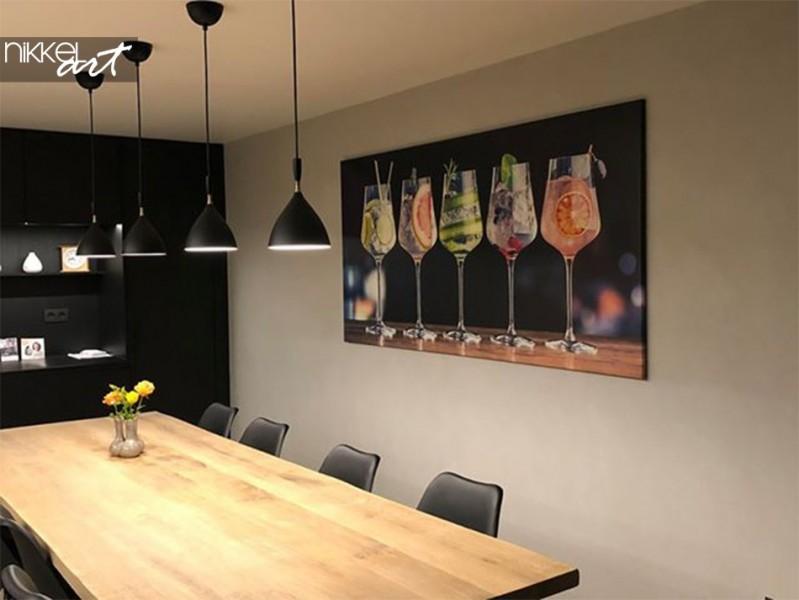Photo Client Salle a Manger avec Photo sur Toile