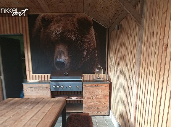 Photo ours Brun sur Poster de Jardin
