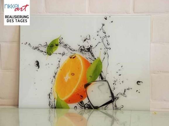 Crédence de cuisine en verre imprimé Eclaboussures d eau