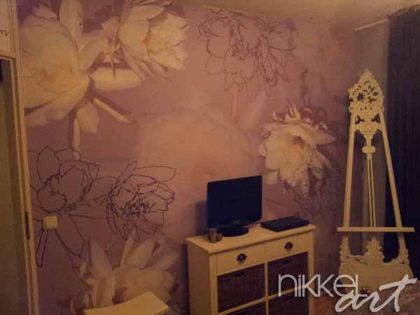 Papiers peints Fleurs abstraites
