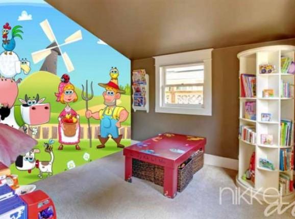 Papiers peints photo Pour enfants  Ferme