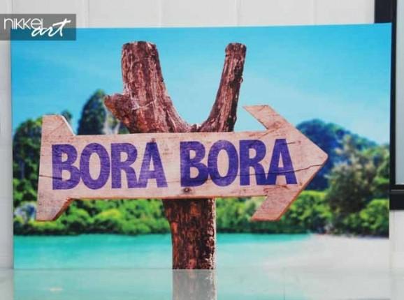 Photo sur Toile panneau en bois Bora Bora