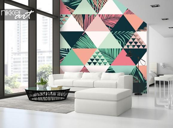 Papier peint tropical abstrait