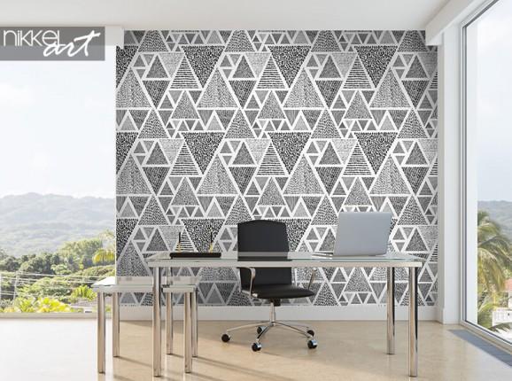 Papier peint avec des triangles dessinés à la main