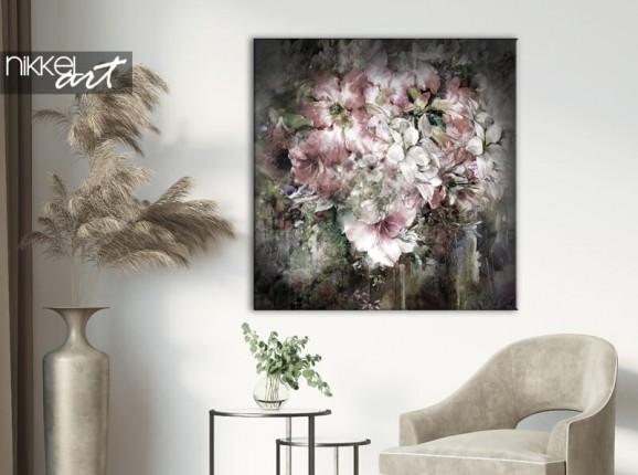 Fleurs aquarelles sur toile