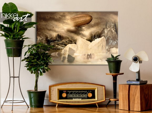 Zeppelin sur toile