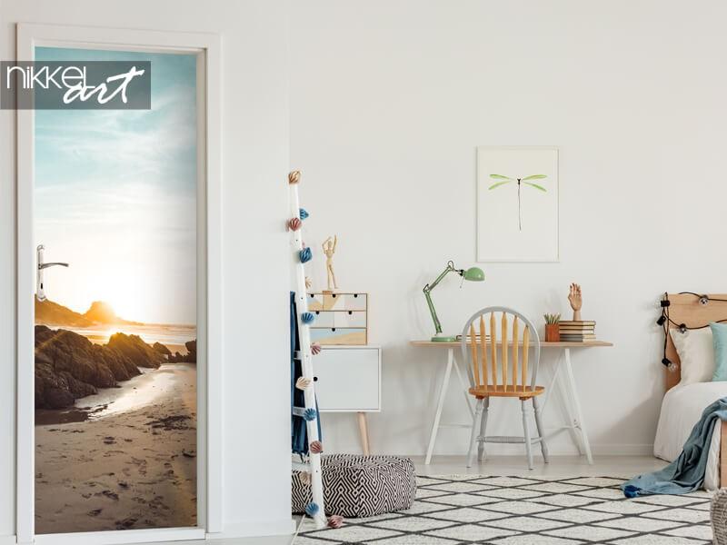Autocollant de porte avec plage