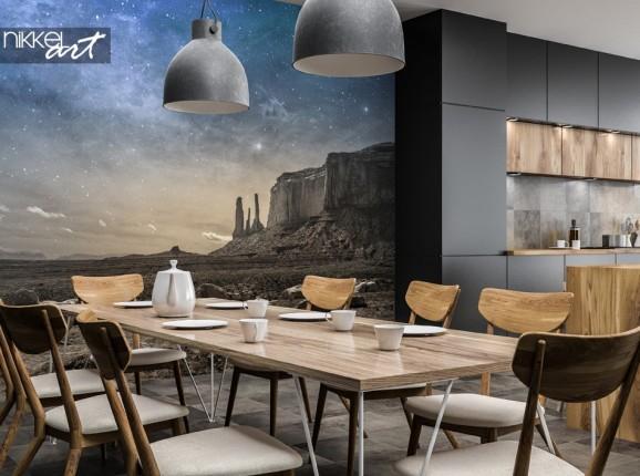 Salle à Manger avec Papier Peint Photo Paysage