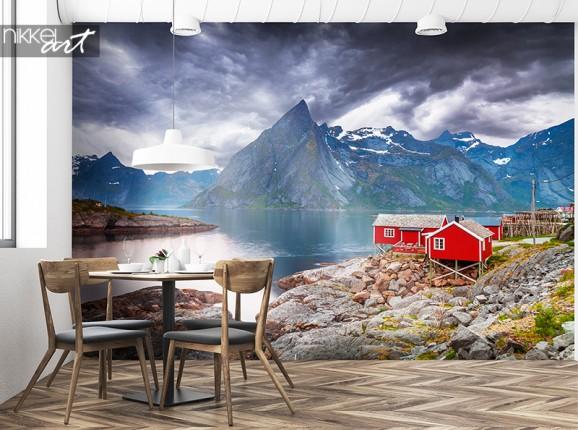 Papier peint photo du refuge de montagne