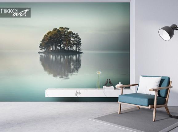 Papier peint photo d'un lac sans rivage