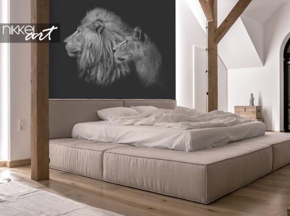 Papier peint photo avec des lions