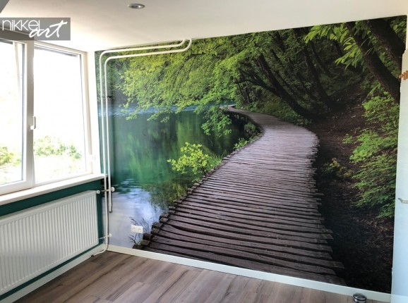 Photo Client Papier Peint avec Sentier Forestier