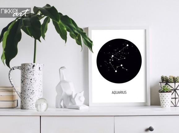 Intérieur moderne élégant avec le zodiaque