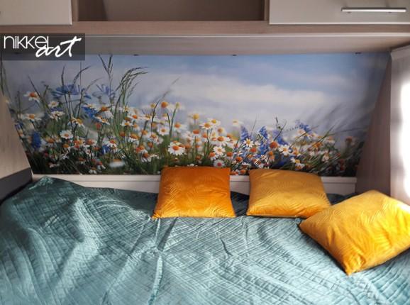 Autocollant mural d'un champ de fleurs