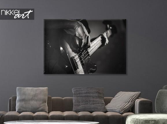 Guitare sur toile