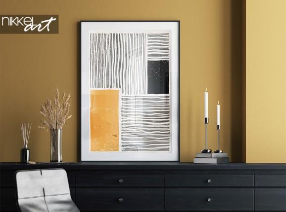 Poster minimaliste encadré