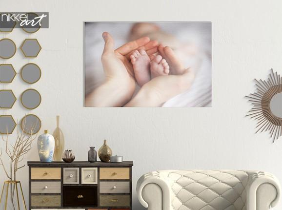 Photo de bébé sur toile
