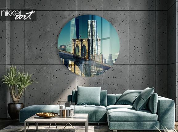 Cercle mural en plexiglas New York