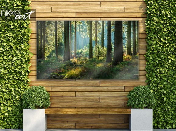 Poster de jardin avec forêt