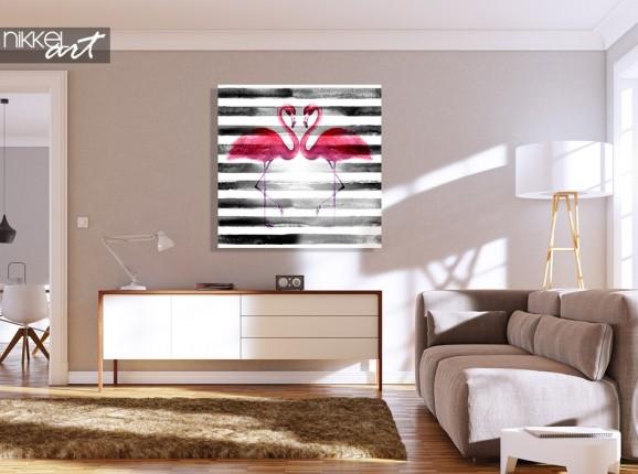 Peinture Flamingo sur Plexiglass