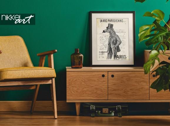 Poster encadré avec un homme zèbre