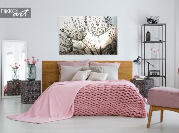 Chambre à Coucher avec Pissenlit Photo sur Toile