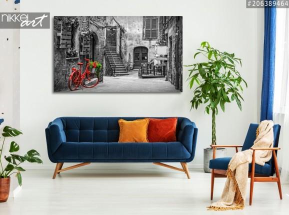 Photo sur Aluminium Petite ruelle dans le village de toscan