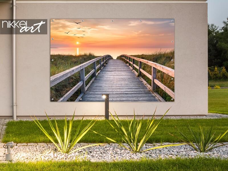 Poster de jardin du coucher de soleil